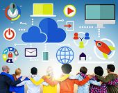 Big Data Sharing Online Global Communication Teamwork Concept