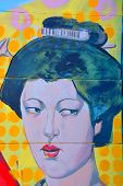 Street art Montreal Geisha