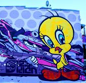 Street art Montreal tweety bird