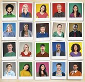 People Diversity Faces Human Face Portrait Community Concept
