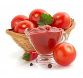 tomato sauce isolated on white background