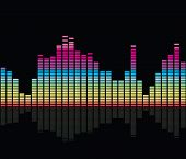 colorful music equalizer on black background