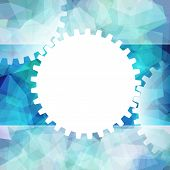 Gears White Symbol Background Teamwork Business