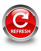 Refresh Glossy Red Round Button