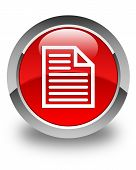 Document Page Icon Glossy Red Round Button