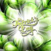 vector typographical illustration of handwritten Saint Patricks Day label on the holiday background
