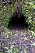 CAVE ENTRANCE CORNWALL UK