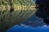 Reflection Mountain On Mirror Lake At Jiuzhaigou