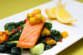 Salmon Steak with Mango Salsa