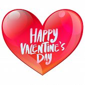 Happy Valentine's Day Glossy Heart