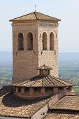 Medieval bell tower in Assisi