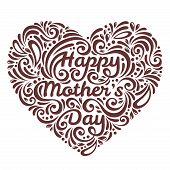 Mothers Day background with Happy Mother's day lettering
