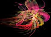 Abstract psychedelic Fractal Texture. Visualization Of Complex Equations.