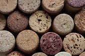 Colorful wine corks.