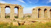 Ruins Of Ancient Bridge. Hampi