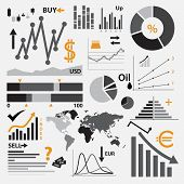 Various Graphs For Your Business Or Stock Market Eps10