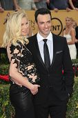 LOS ANGELES - JAN 25:  Elspeth Keller, Reid Scott at the 2015 Screen Actor Guild Awards at the Shrine Auditorium on January 25, 2015 in Los Angeles, CA
