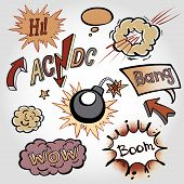 Comic Cloud, Vector, Wow, Design, Bang, Boom, Collection