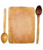 Wooden Board And Spoons