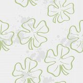 Seamless texture with clover leaf for St. Patrick's Day.