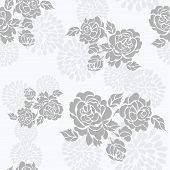 Seamless pattern with a beautiful roses