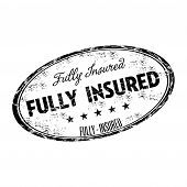 Fully insured grunge rubber stamp
