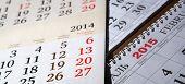 Calendars Laid On The Table