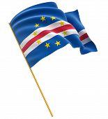 3D Cape Verde flag