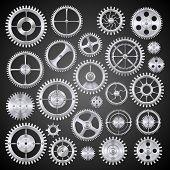Pinions mechanisms. Vector
