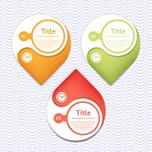 Vector design element in yellow, green and red  color. Background with wavy pattern. eps 10