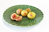 Ripe Figs On Plate