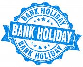 Bank Holiday Blue Vintage Isolated Seal
