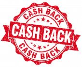 Cash Back Red Vintage Isolated Seal
