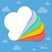 Cloud gallery vector template
