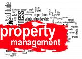stock photo of financial management  - Property management word cloud image with hi - JPG
