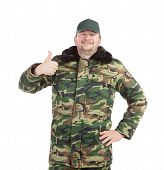 picture of vest  - Man in military vest - JPG