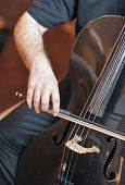 picture of cello  - Man playing the cello, hand close up. Cello orchestra musical instrument playing cellist musician