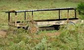 Weathered Farm Feed Wagon poster