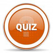 foto of quiz  - quiz orange icon   - JPG