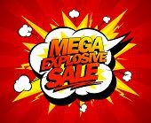 foto of explosion  - Mega explosive sale design - JPG