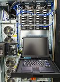 foto of utp  - server management console with a screen in enterprise server - JPG