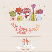 foto of you are awesome  - Awesome I love you card in vector - JPG