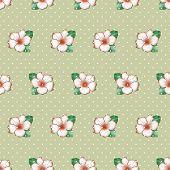 pic of azalea  - Seamless floral pattern with cute azalea flowers print background - JPG