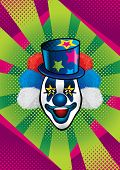 stock photo of clowns  - Illustration of smiling clown with blue hat - JPG