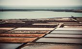 pic of canary-islands  - saltworks salinas de Janubio colorful on the island of Lanzarote - JPG