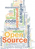 stock photo of open-source  - Background concept wordcloud illustration of open source - JPG