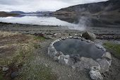 Hot nature  pool in Iceland