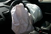foto of mutilated  - airbags deployed in a hit and run accident - JPG