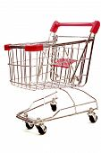 Shopping Trolley On White Background 4
