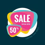 Sale abstract vector banner - special offer 50% - limited time only. Sale vector banner. poster